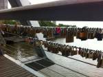 padlocks of love and fidelity. Yarra Footbridge, Melbourne